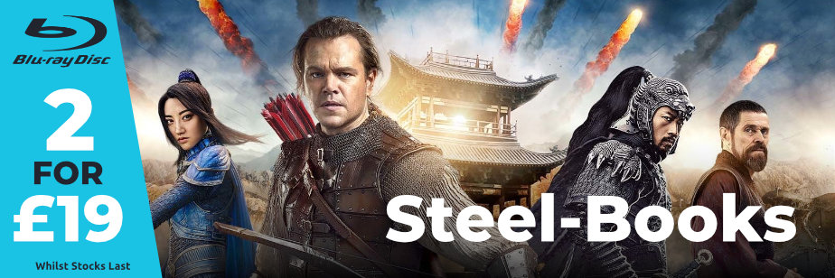 2 for £19 Blu-Ray Steel-Books