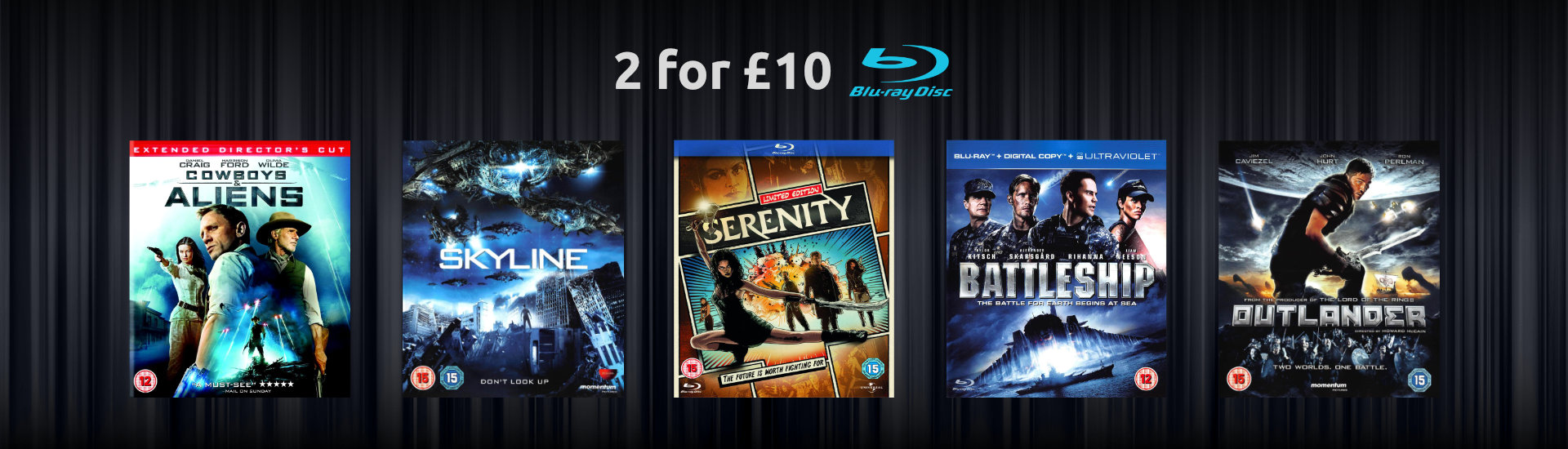 2 for £10 Sci-Fi