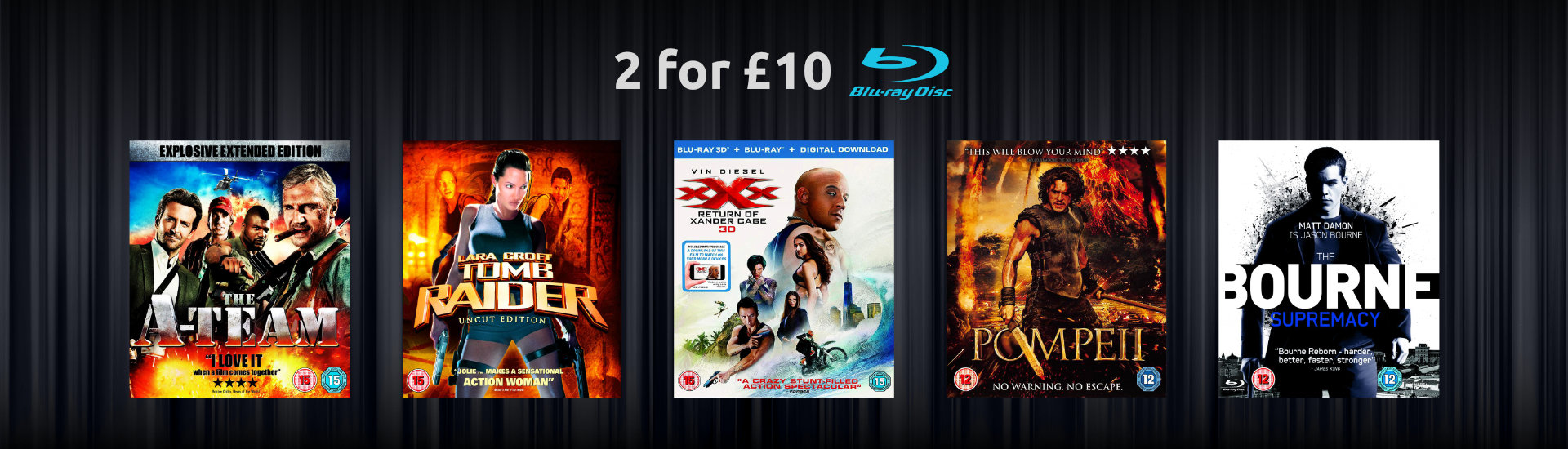 2 for £10 Action