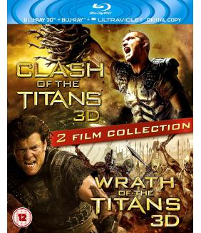Clash Of The Titans 3D+2D / Wrath Of The Titans 3D+2D Blu-Ray