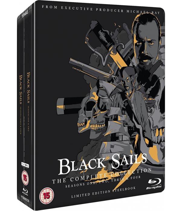 Black Sails Seasons 1 to 4 Steelbook Blu-Ray