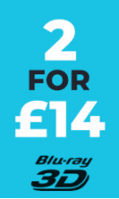 3D Blu-Ray - 2 for £14