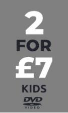 Kids DVD 2 for £7