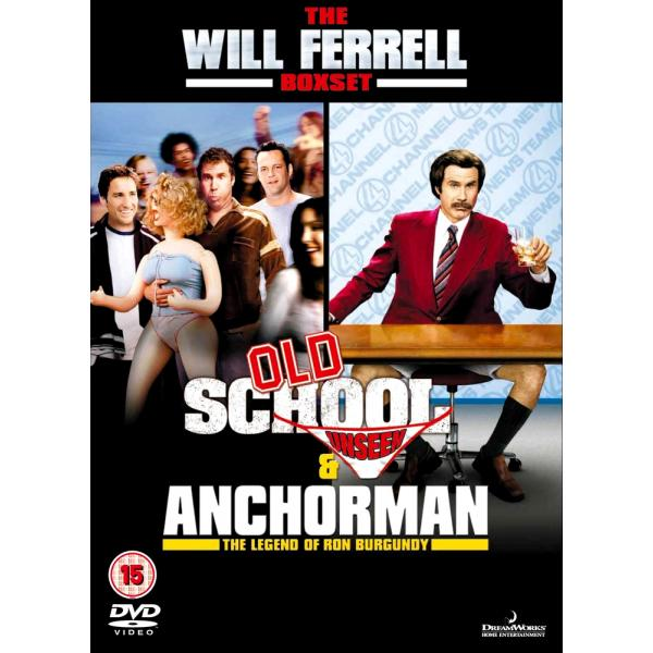 Will Ferrell - Old School - Unseen / Anchorman - The Legend Of Ron Burgundy DVD