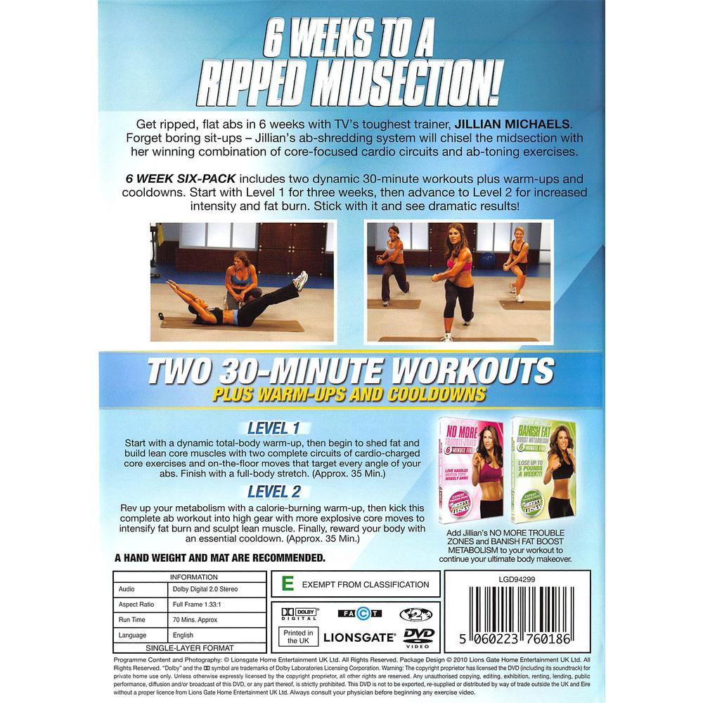 Jillian Michaels - 6 Week Six Pack DVD | Deff com