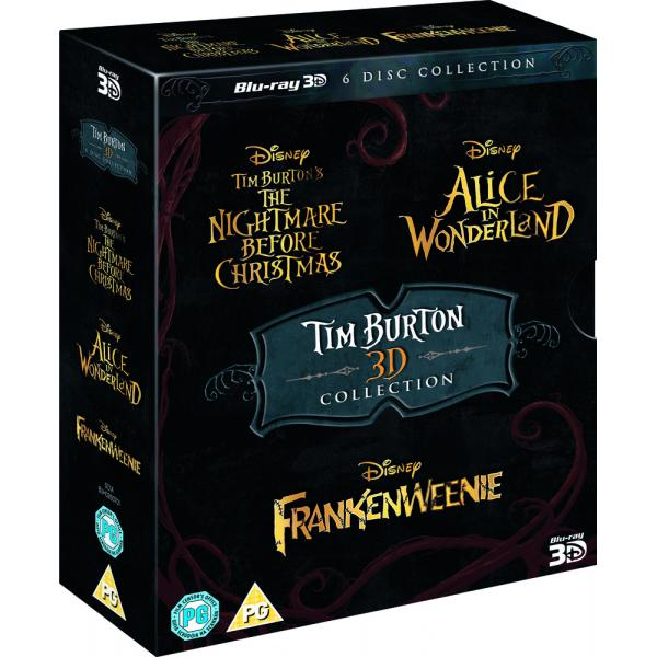Tim Burton - The Nightmare Before Christmas / Alice In Wonderland / Frankenweenie 3D Blu-Ray