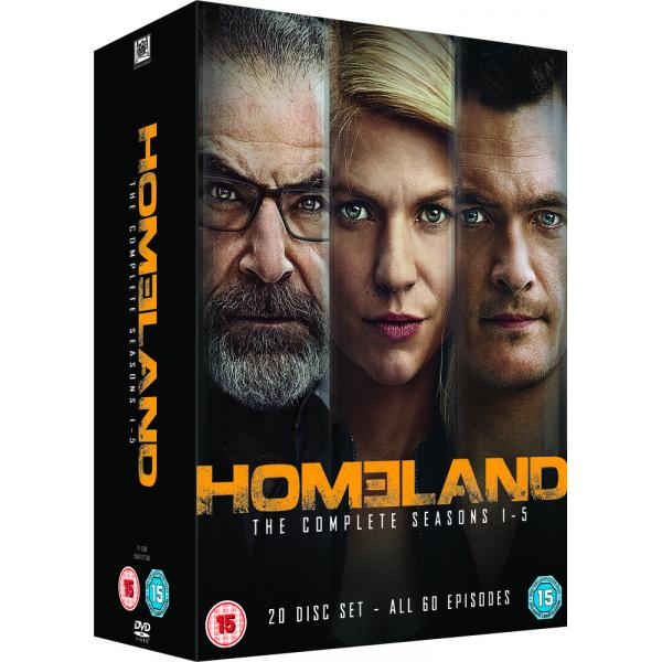 Homeland Seasons 1 to 5 DVD