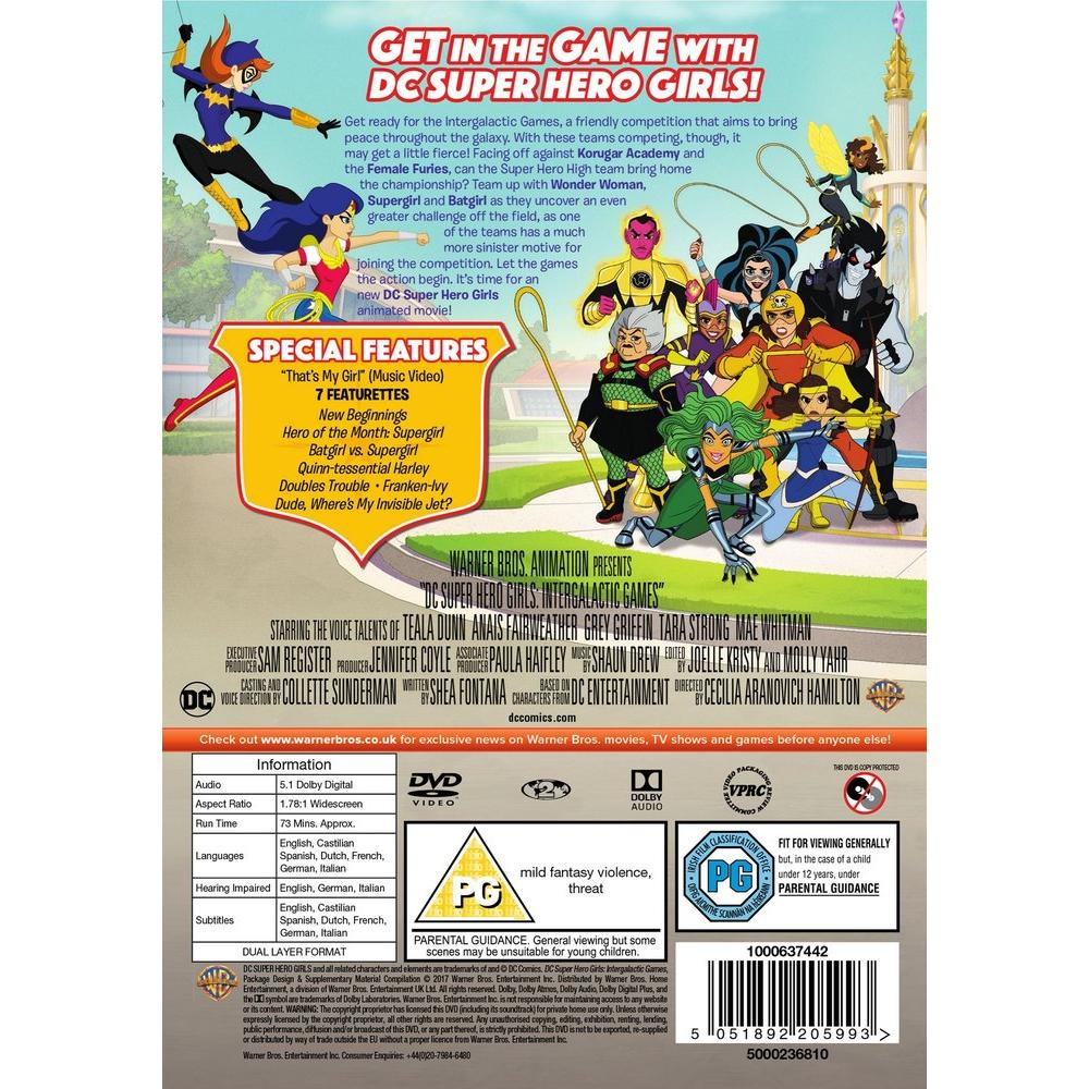 DC Superhero Girls - Intergalactic Games DVD | Deff com