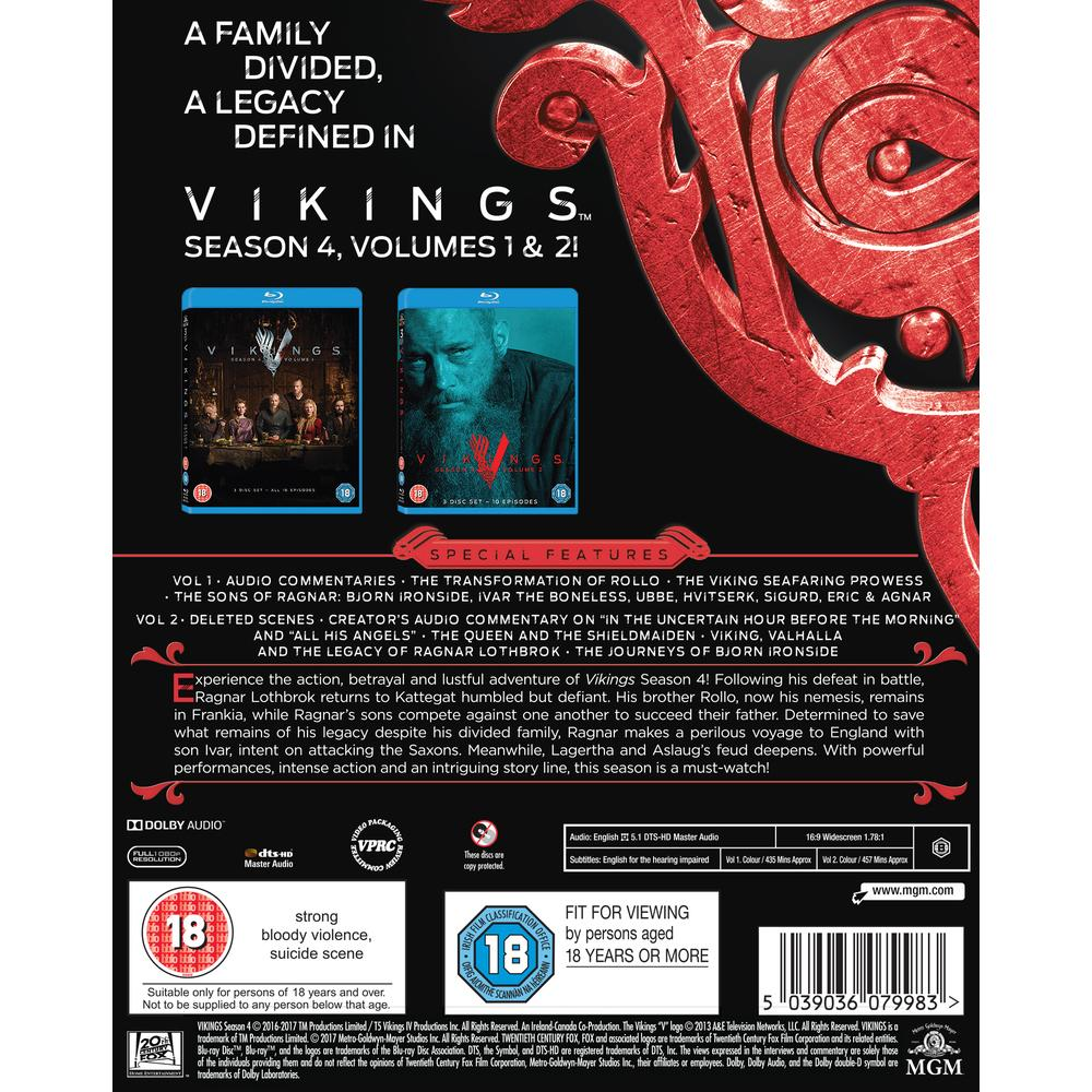 Vikings Season 4 Blu-Ray | Deff com