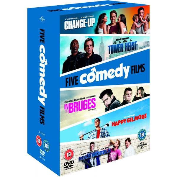 The Change-Up / Tower Heist / Happy Gilmore / In Bruges / Role Models DVD