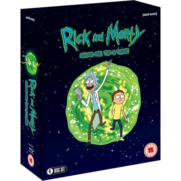 Rick And Morty Season 1 to 3 Blu-Ray