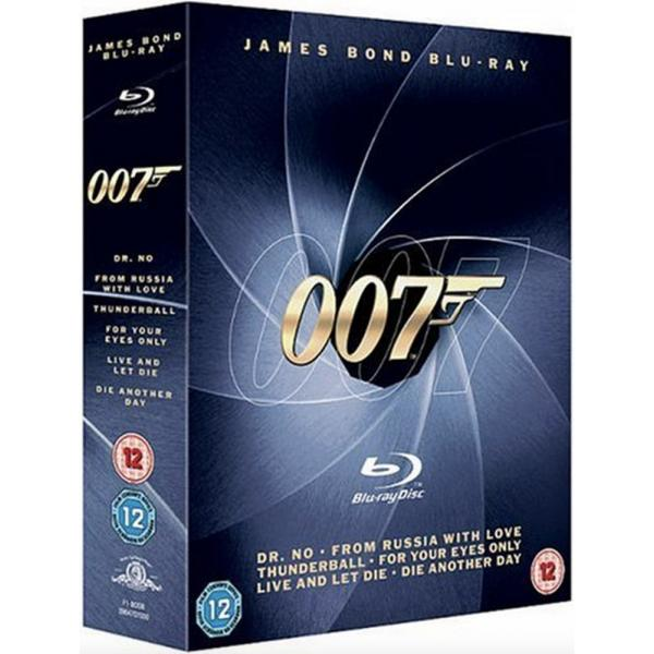 007 Bond - Dr No / From Russia With Love / Thunderball / For Your Eyes Only / Live And Let Die / Die Another Day Blu-Ray