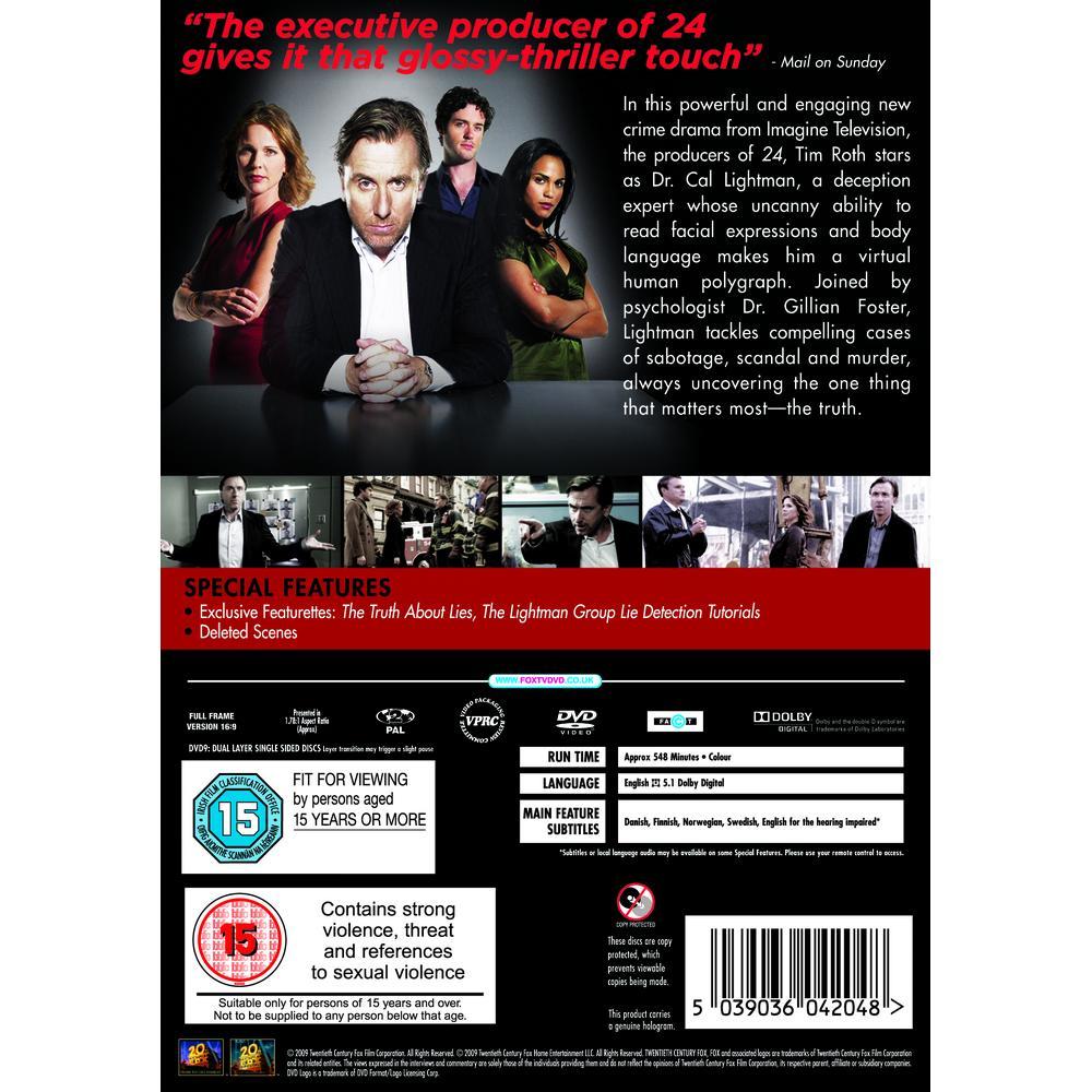 Lie To Me Season 1 DVD | Deff com