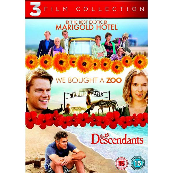 The Best Exotic Marigold Hotel / We Bought A Zoo / The Descendants DVD