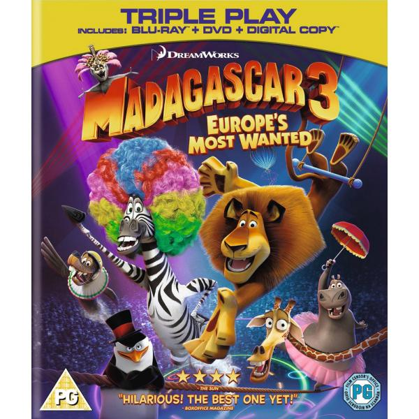 Madagascar 3 - Europes Most Wanted Blu-Ray